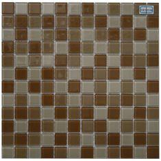 Maxwhite Mozaika H28 + H29 + H30 sklenená hnedá cappuccino latte 29,7x29,7cm sklo