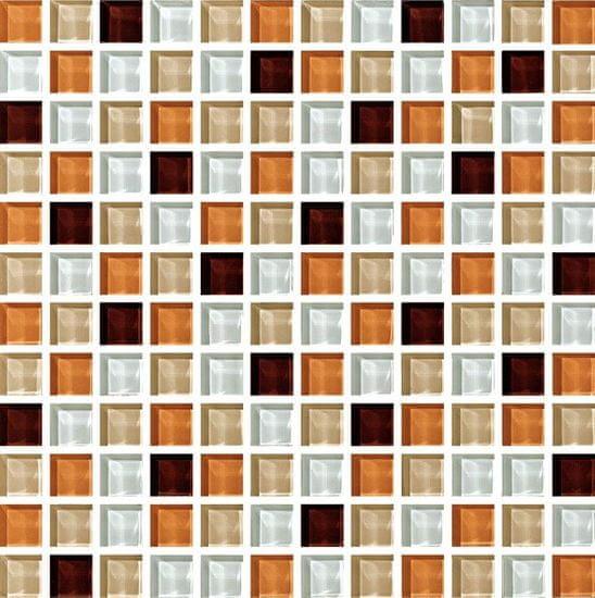 Maxwhite Mozaika ASHS240 sklenená hnedá biela 29,7x29,7cm sklo