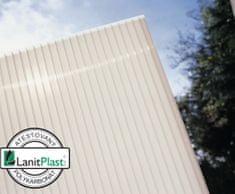 LanitPlast Polykarbonát komůrkový 6 mm opál - 2 stěny - 1,3 kg/m2 2,10x5 m