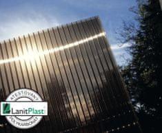 LanitPlast polykarbonát komůrkový 6 mm bronz - 2 stěny - 1,3 kg/m2 2,10x7 m