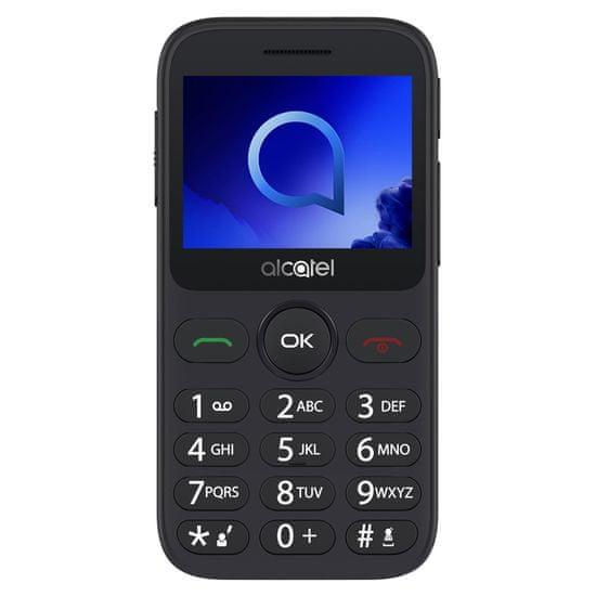 Alcatel mobilni telefon 2019G, s polnilno postajo, kovinsko srebrn - Odprta embalaža