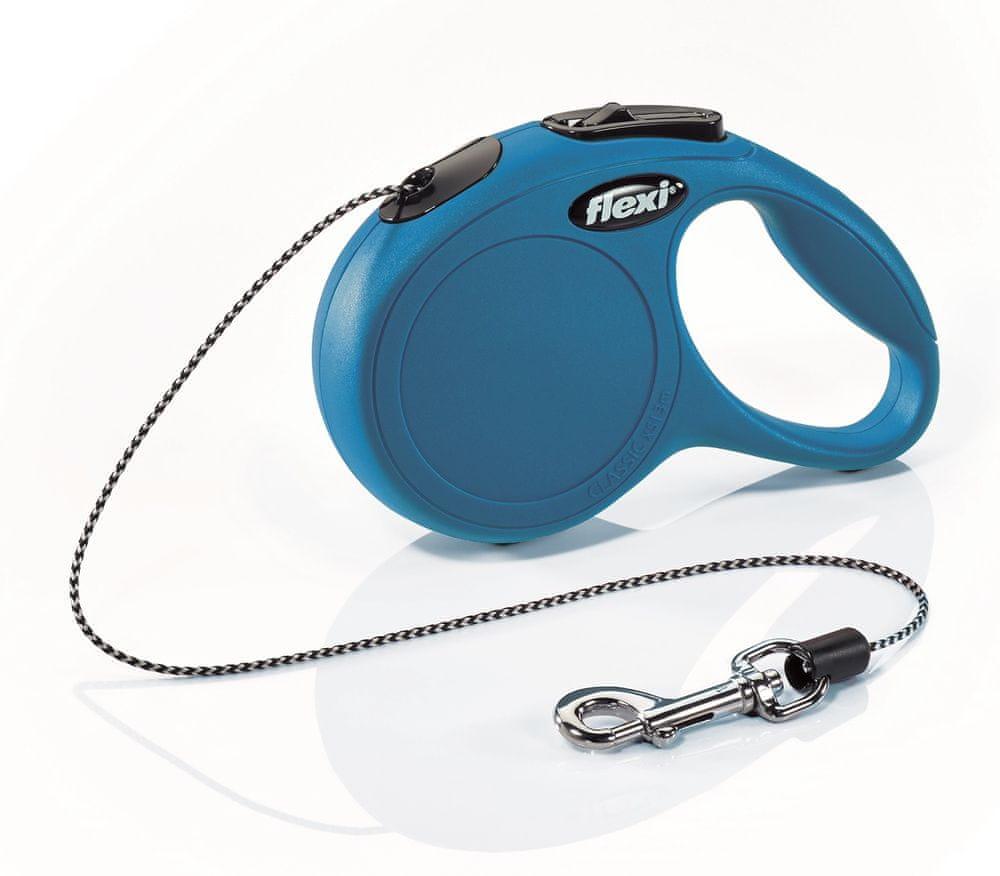 Flexi New Classic XS šňůra 3 m, max. 8 kg, modrá
