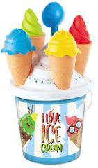 Mondo toys komplet za igro v peskovniku, garnitura za sladoled