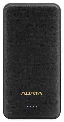 A-Data prenosna baterija PowerBank AT10000, 10000 mAh, črn
