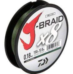 Daiwa Splietaná Šnúra J-Braid Dark Green 300 m-Priemer 0,10 mm / Nosnosť 6 kg