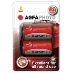 Agfaphoto Zinková baterie 1,5V R20/D, 2ks blistr