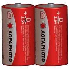 Agfaphoto Zinková baterie 1,5V R20/D, 2ks shrink