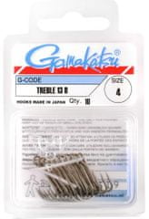 Gamakatsu Trojháčik Bronze Treble 13 - Veľkosť 10