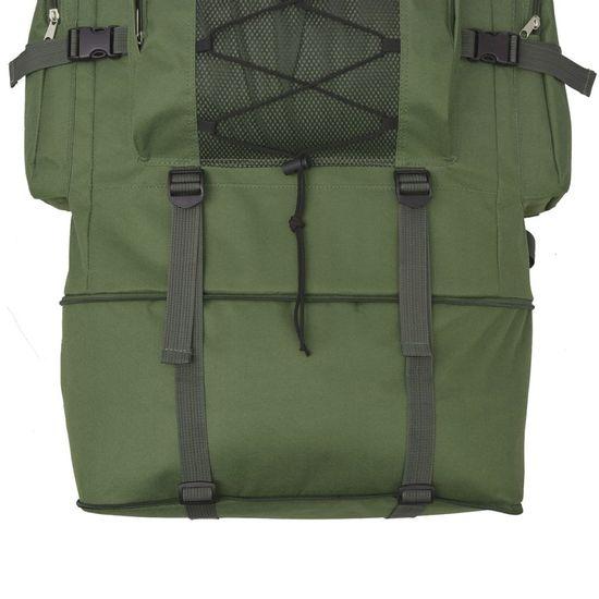 shumee Nahrbtnik Vojaški Stil 100 L Zelene Barve