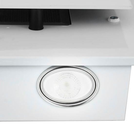 shumee RGB kuhinjska napa LED 60 cm nerjaveče jeklo in kaljeno steklo