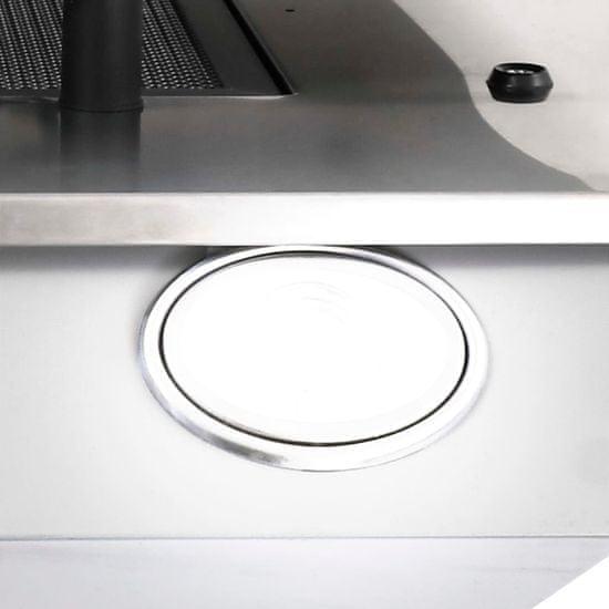 shumee Kuhinjska napa 60 cm nerjaveče jeklo in kaljeno steklo srebrna