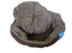 Petproducts Kulatý hnědý pelech pro psy - 57x52x14 cm