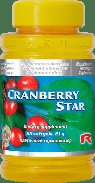 "Starlife CRANBERRY STAR, 60 tab. ""ledviny, močové ústrojí, vitamin C, vitamin E"""