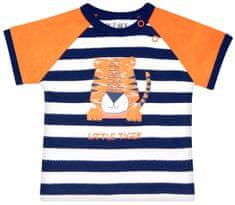 Nini fantovska majica iz organskega bombaža, 62, temno modra/oranžna
