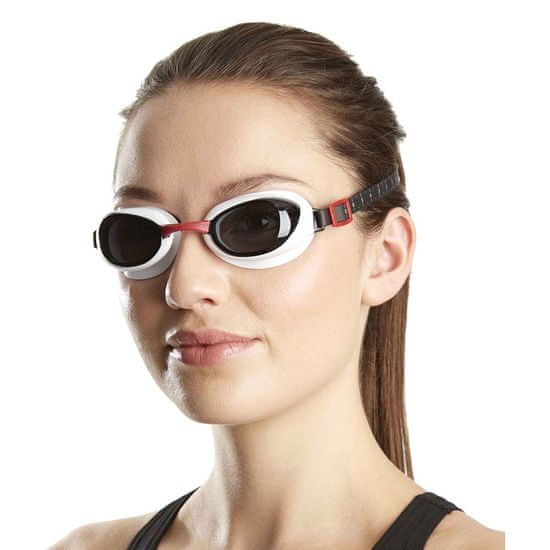 Speedo Aquapure Gog Au plavalna očala, Red/Smoke