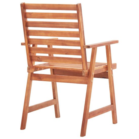shumee Zunanji jedilni stoli 4 kosi trden akacijev les