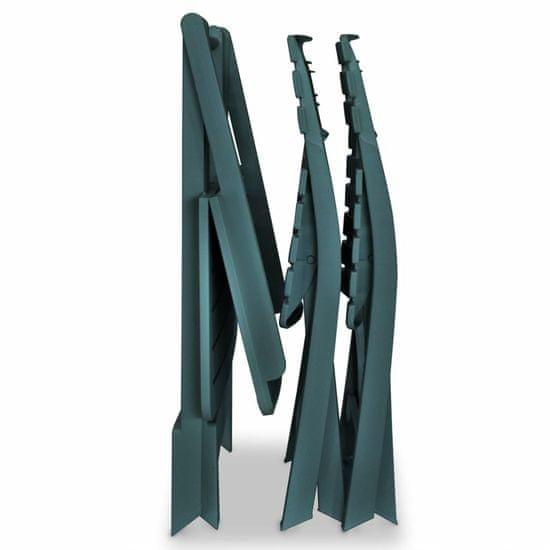 shumee 3 darabos zöld összecsukható műanyag bisztrószett