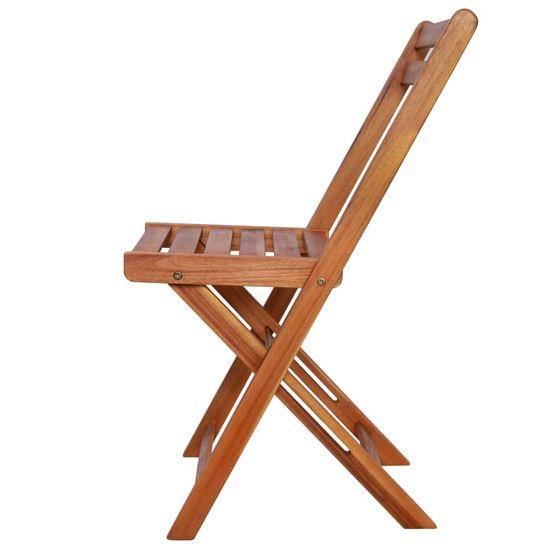 shumee Zunanji bistro stoli 2 kosa trden akacijev les