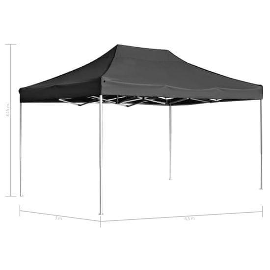 shumee Profesionalni šotor za zabave aluminij 4,5x3 m antracit