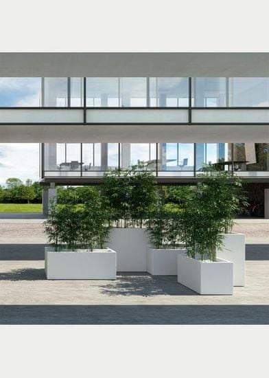 Plust Designový květináč KUBE, 100 x 40 x 40 cm, šedý