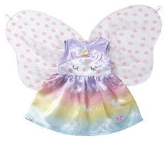 BABY born dekliški kostim samoroga, 43 cm