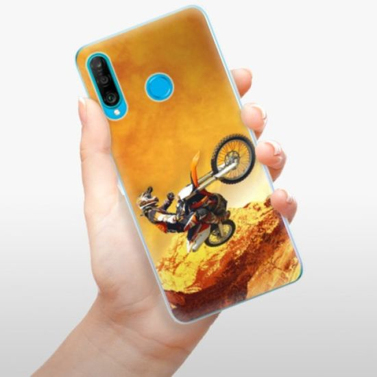 iSaprio Silikonowe etui - Motocross na Huawei P30 Lite