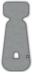 Petite&Mars vložek za avtosedež 3D Aero 9–18 kg, svetlo siv