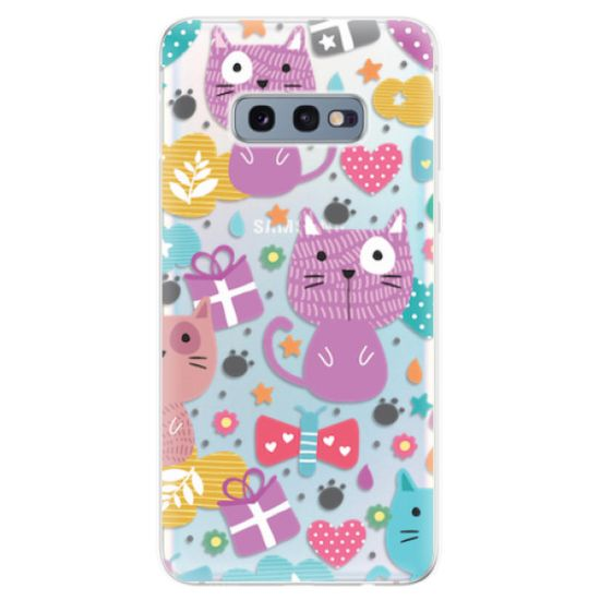 iSaprio Cat pattern 01 szilikon tok SAMSUNG GALAXY S10E