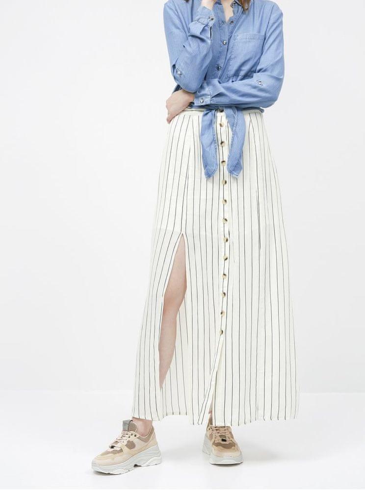 Noisy May krémová pruhovaná maxi sukně Fleur XS