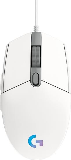 Logitech G102 LightSync gaming miška, bela