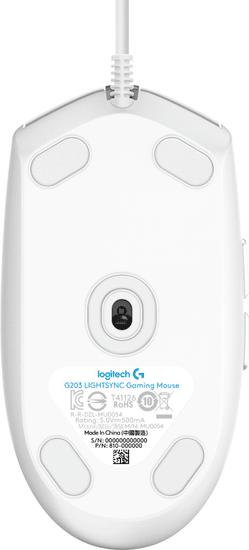 Logitech G203 Lightsync, bílá (910-005797)