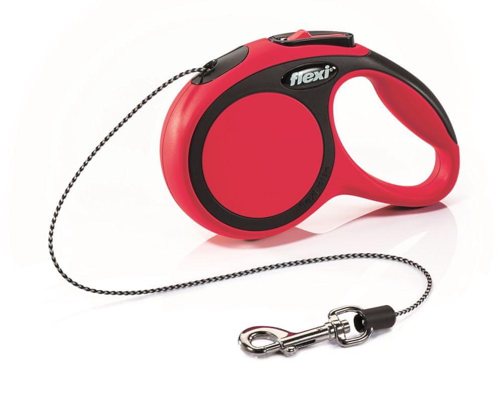 Flexi New Comfort XS šňůra 3 m, max. 8 kg, červená