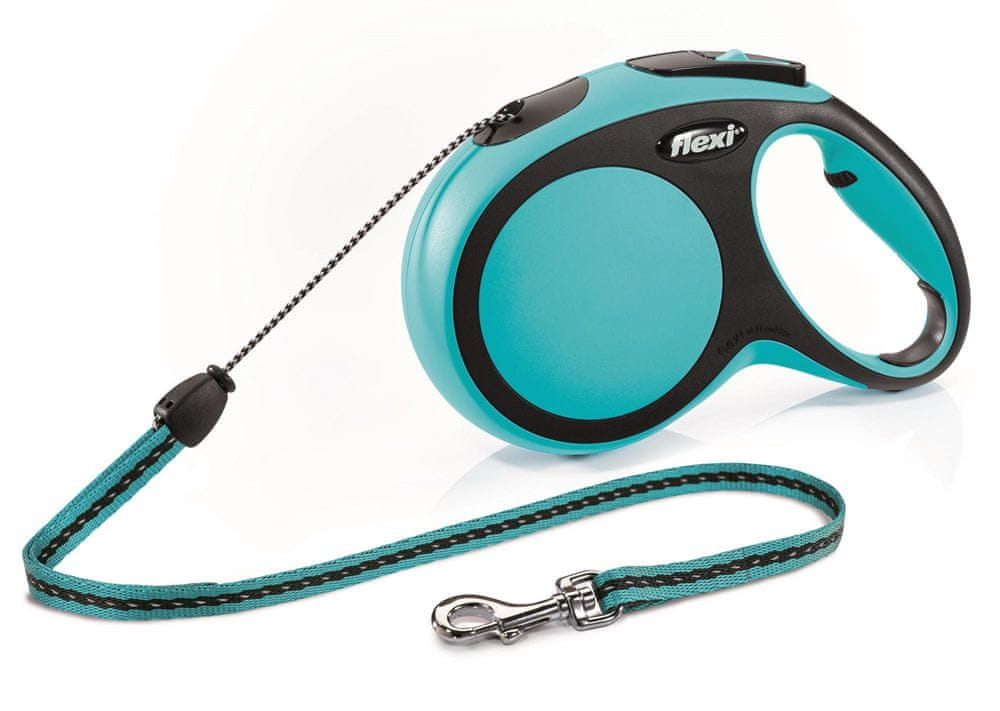 Flexi New Comfort M šňůra 8 m, max. 12 kg, modrá