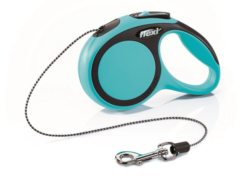Flexi New Comfort XS šňůra 3 m, max. 8 kg, modrá