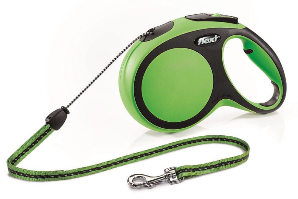 Flexi New Comfort M šňůra 8 m, max. 12 kg, zelená