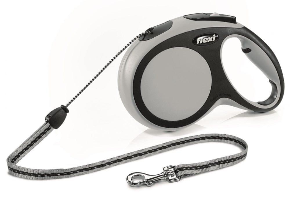 Flexi New Comfort M šňůra 8 m, max. 12 kg, šedá