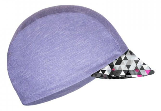 Unuo Dívčí funkční čepice s kšiltem UV 50+ Metricon 53 - 58 šedá
