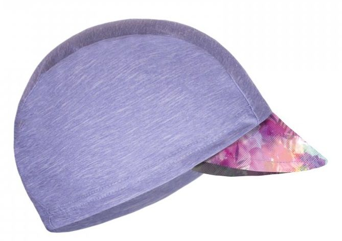 Unuo Dívčí funkční čepice s kšiltem UV 50+ Modernico 53 - 58 šedá