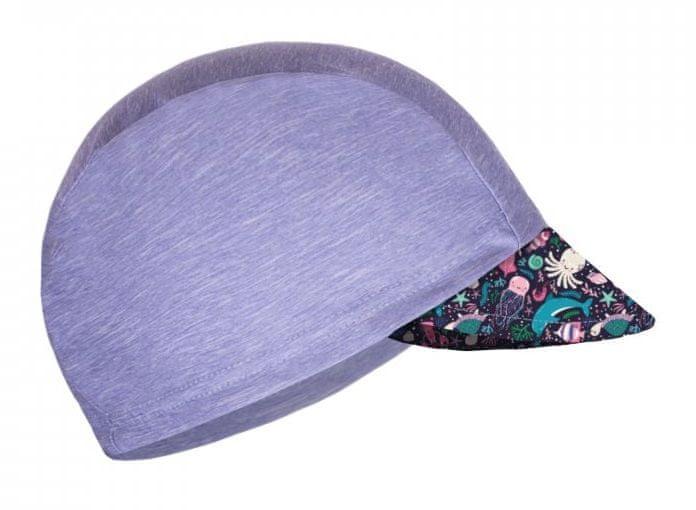 Unuo Dívčí funkční čepice s kšiltem UV 50+ Mořský svět 53 - 58 šedá
