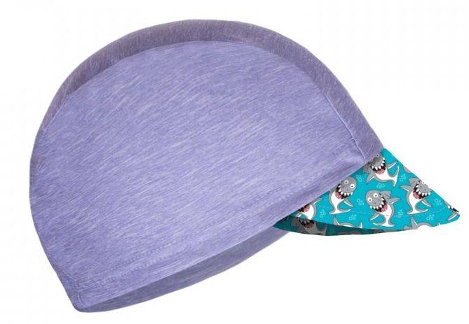 Unuo Chlapecká funkční čepice s kšiltem UV 50+ Žraloci 53 - 58 šedá