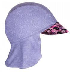Unuo Dievčenská funkčná čiapka s plachtičkou UV 50+ Veľryby, 42 - 44, sivá