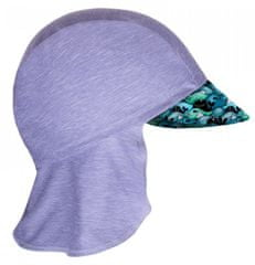 Unuo Chlapčenská funkčná čiapka s plachtičkou UV 50+ Veľryby, 45 - 48, sivá