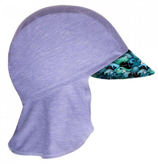 Unuo funkcionalna kapa sa šiltom za dječake, UV 50+ Kitovi, produljena