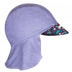 Unuo Dievčenská funkčná čiapka s plachtičkou UV 50+ Morský svet, 45 - 48, sivá