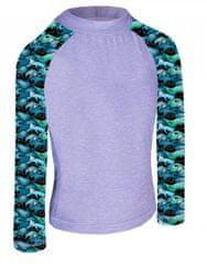 Unuo funkcionalna majica za dječake, UV 50+ Kitovi, 98 - 104, siva