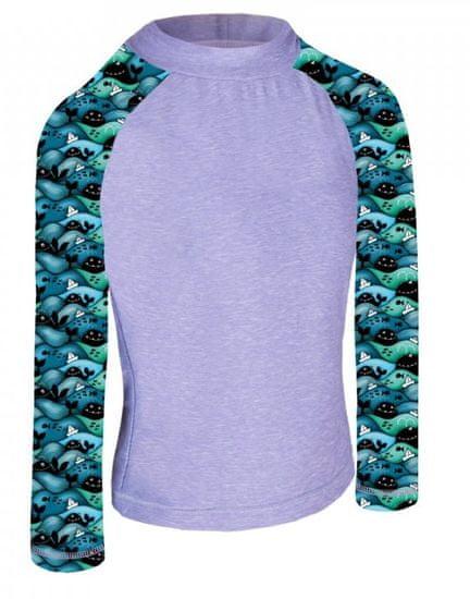 Unuo Chlapecké funkční tričko UV 50+ Velryby
