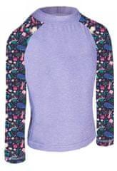 Unuo funkcionalna majica za djevojčice, UV 50+ Morski svijet, 74 - 80, siva