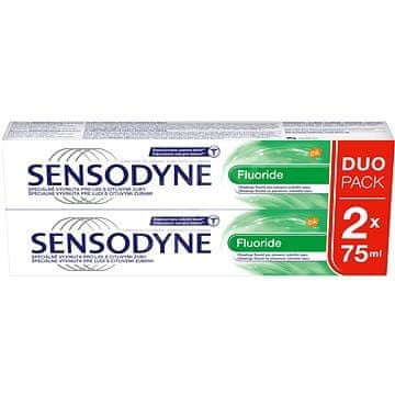 Sensodyne SENSODYNE Fluoride zubní pasta s fluoridem 2x 75 ml