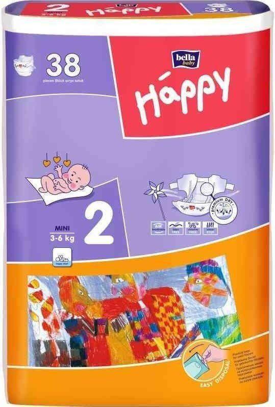 Bella HAPPY Mini dětské plenky 38 ks