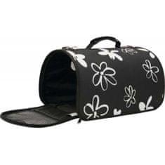 Zolux FLOWER Kisállathordozó táská S fekete 21x36x23,5 cm